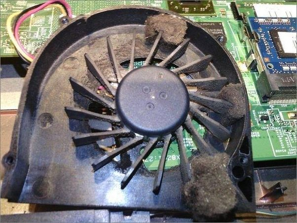 what does a clogged laptop fan that needs cleaning look like is a