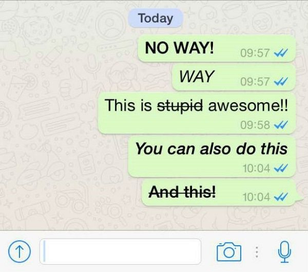 How To Write Whatsapp Status In Bold Or Italics Quora