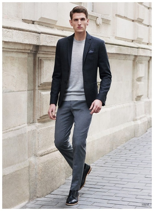 Which color shirt best suites grey trousers except the black one? - Quora