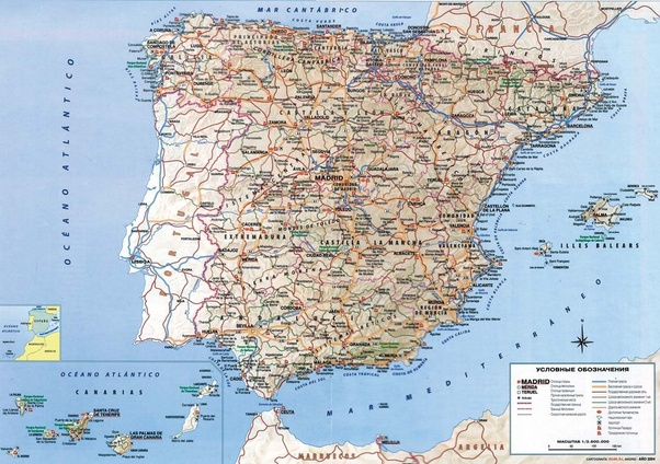 Spain And Africa Map.How Far Is Spain From Africa Quora