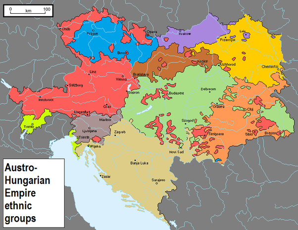 How well did austria hungary fight in world war i quora but even more important is the below map showing the socio cultural linguistic distribution of the empire gumiabroncs Image collections