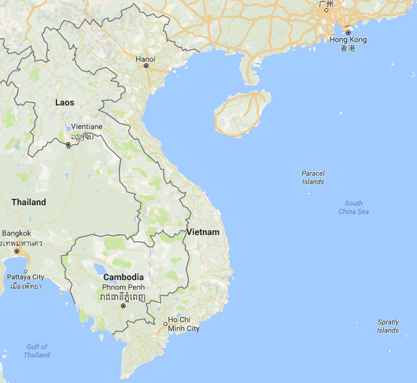 How do vietnam justify their occupation of those disputed islands it shares land borders with china laos and cambodia the capital of hanoi is very close to the chinese border and has to use the bay of south china sea publicscrutiny Images
