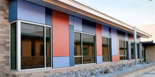 The High Performing And Fire Resistant Features Of It Can Protect The  Exterior Of The Building. Wall Cladding ...