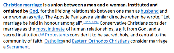 The Union Between The Man And The Woman Does Not Need The Intervention Of  Any Christian Religion Because Anything That Is United By God Does Not Need  Any ...