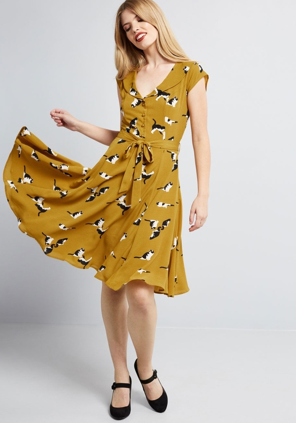 What colour of shoes match a mustard dress? - Quora