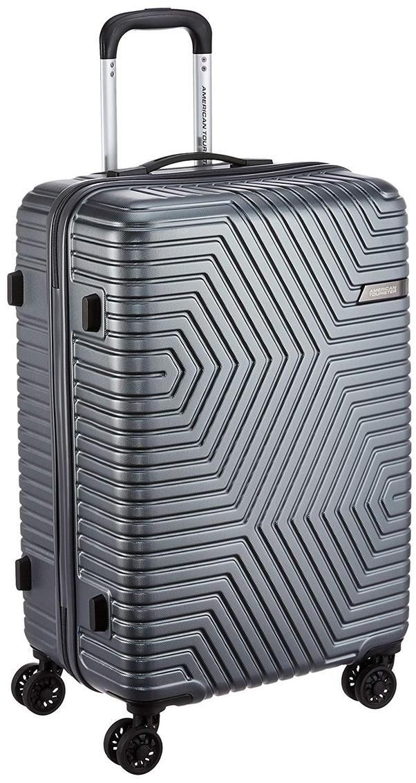 a52aef198 American Tourister Ellen ABS 68 cms Grey Hardsided Check-in Luggage (AMT  Ellen SP68 cm TSA Grey)