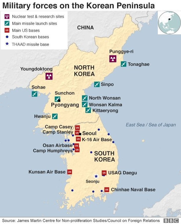 Osan South Korea Map.If North Korea And South Korea Went To War After The Us Military
