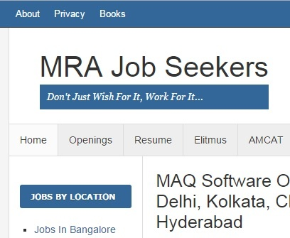 How is the life of a struggler in Bangalore as a job seeker after
