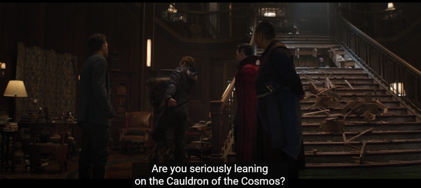 """How does Bruce Banner/Hulk know what the Cauldron of the cosmos is? . When  Doctor Strange says to Tony Stark """" Are you seriously leaning on the  cauldron of the cosmos"""" Bruce"""