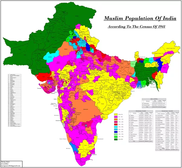 What Was The Of Muslims In Different States Of India Before And - World population religion 2016