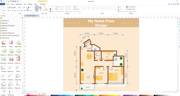 It Is Perfect Not Only For Professional Looking Floor Plan, Office Layout,  Home Plan, Seating Plan, But Also Garden Design, Fire And Emergency Plan,  HVAC, ...