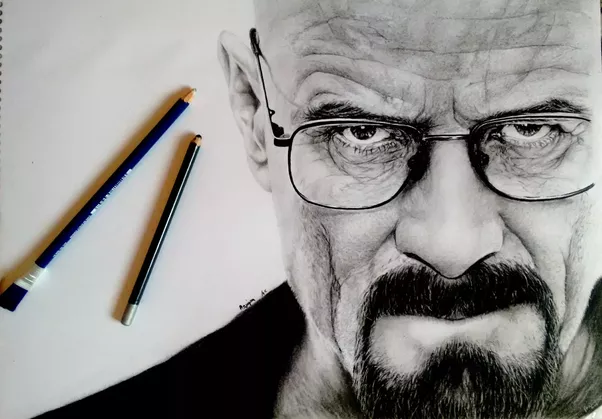 Edit here is my latest sketch walter white from breaking bad
