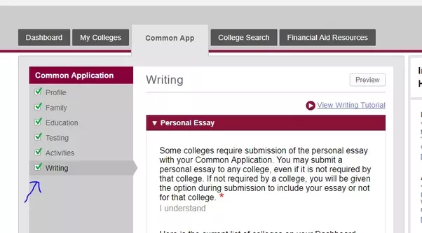 the personal essay that is been sent to all universities those which require personal essay and you can access from here