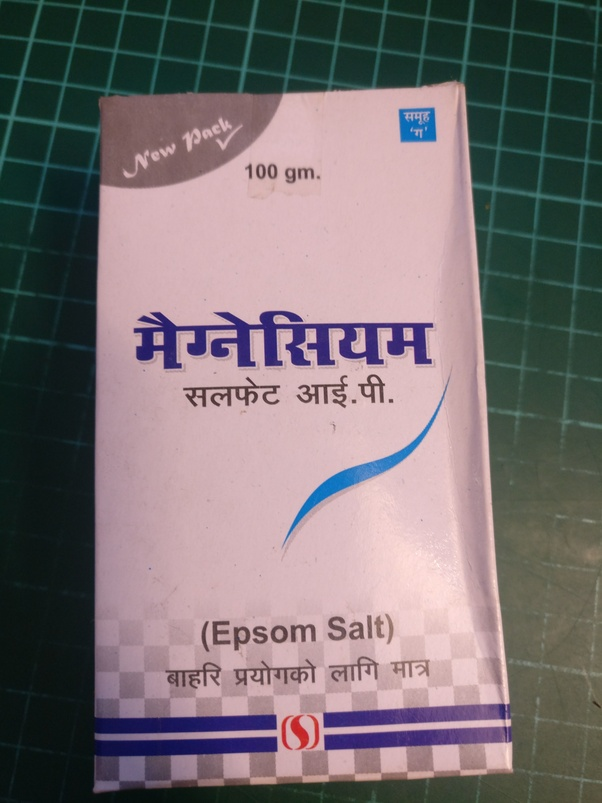 Where Can I Get Epsom Salt Or Magnesium Sulphate In Nepal Quora