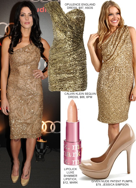 what color shoes with gold sequin dress