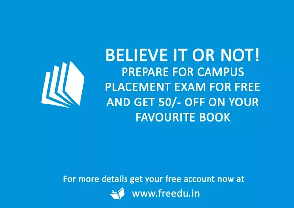 Which is the best book for campus placement tests eg verbal yes you get freebies from local national and international brands for learning online for free fandeluxe Images