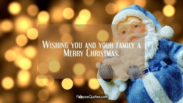 wishing you and your family a merry christmas - Christmas Wishes To Boss