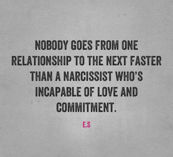 A narcissist finds someone new