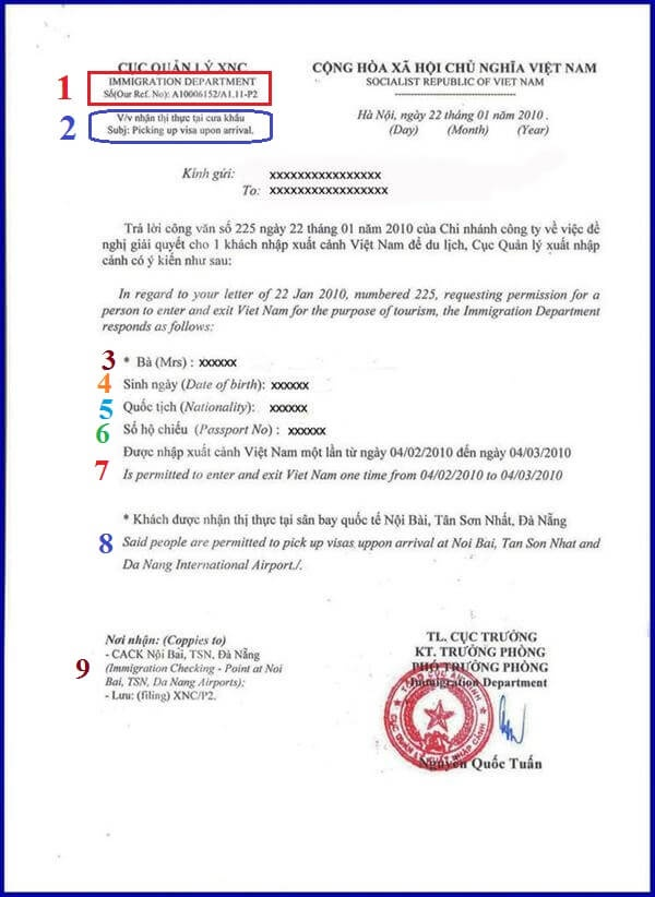 How does the vietnam visa approval letter look like quora 1 here you can see a code named a1006152a111 p2 of this visitors vietnam voa approval letter this is an unique code that distinguishes it with other thecheapjerseys Choice Image