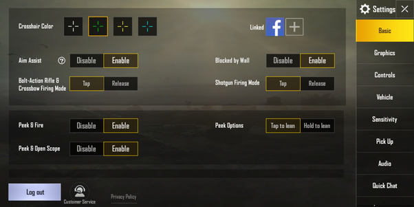 best setting in pubg mobile