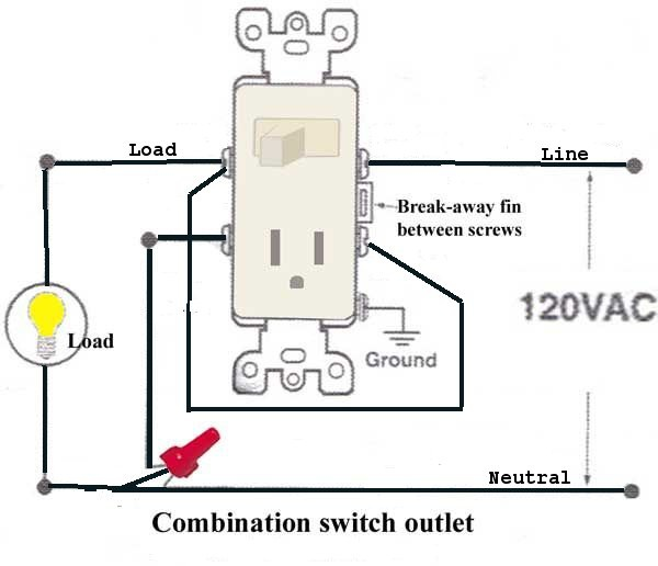 combination switch receptacle wiring diagram  faria tach