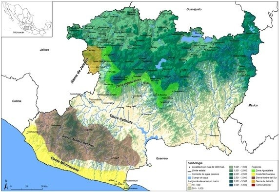 what are some good maps which show the various regions of michoacan quora