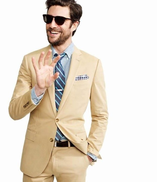 What color shirt should I wear with a khaki suit? - Quora