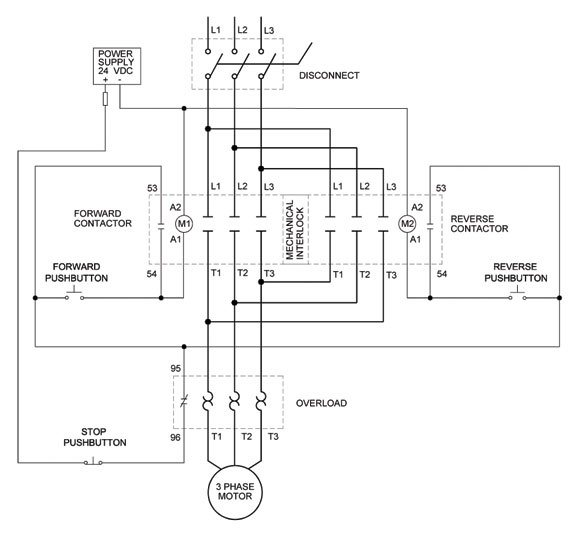 can we operate the 3 phase motor to go in reverse and forward quora rh quora com 3 Phase Motor Control Ladder Diagram 3 Phase Motor Winding Diagrams