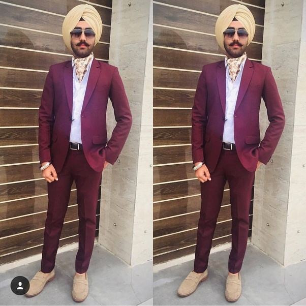 cf3bc593f2b6 Which Turban Matches With Wine Color Coat Pants Quora