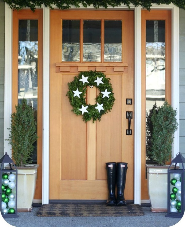 How To Hang A Wreath On The Front Of A Craftsman Door   Quora