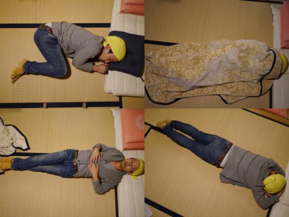 nude sleeping positions