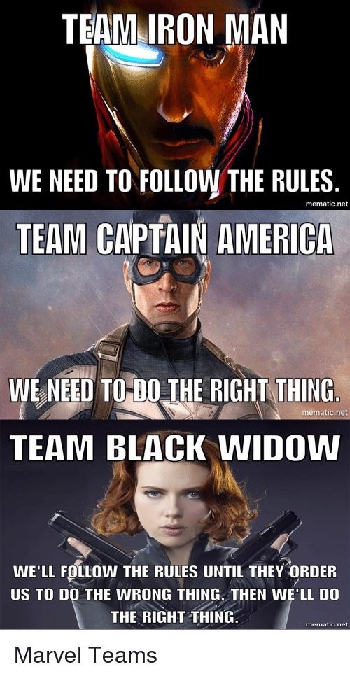 Spoilers Why Did Black Widow Not Choose Teamcap Directly