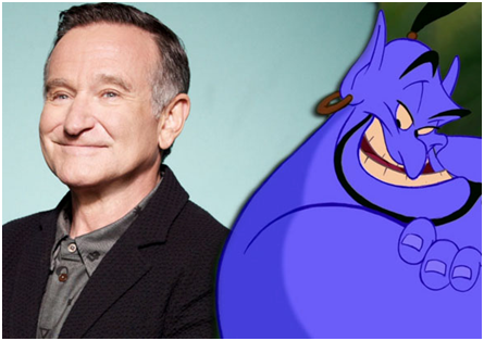 how many voices did robin williams play in aladdin