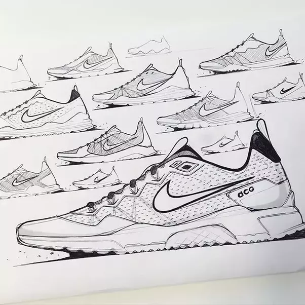After initial sketches the designer will likely bring it into a digital  platform such as Adobe Illustrator, Adobe Photoshop or AutoDesk SketchBook  Pro.