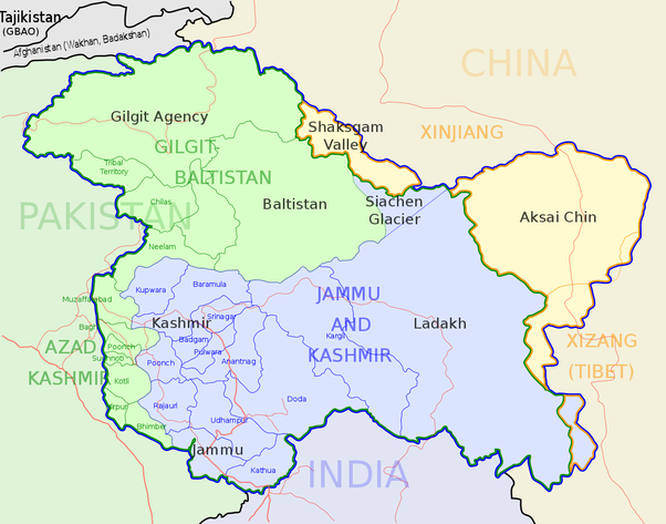 map of kashmir valley How Large Is The Kashmir Valley Quora map of kashmir valley