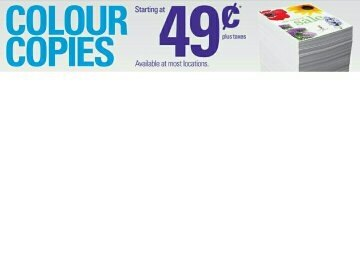 Assuming That You Are Printing The Standard Paper Size Then It Would Be 49 Cents Per Color Copy