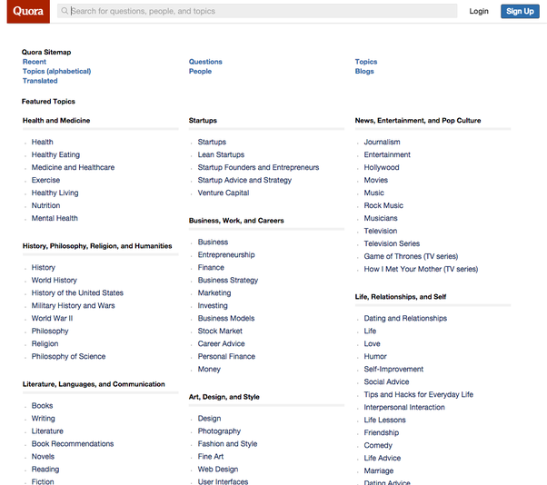 What are some examples of large sites that have HTML sitemaps/directories for search engine ...