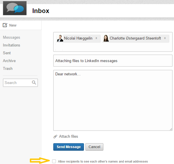 how to share an image on linkedin with hyperlink quora