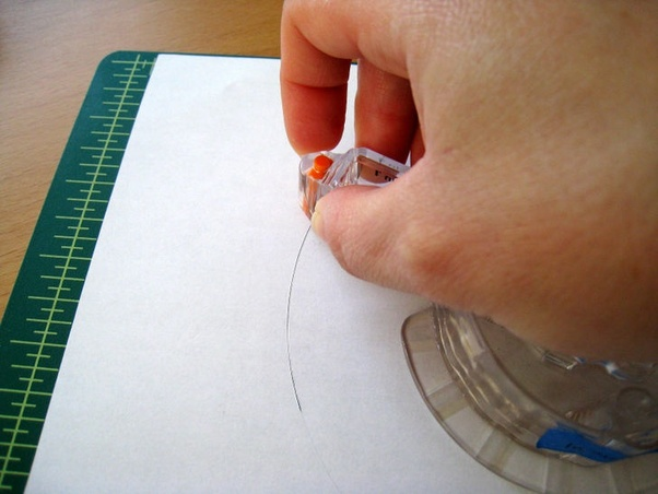 how to cut perfect circles in paper
