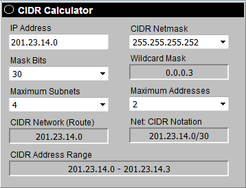 How to find the maximum and minimum IP addresses connected