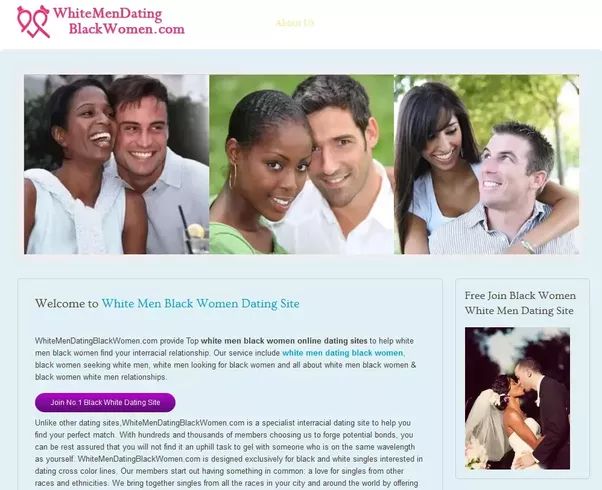 Interracial online dating website