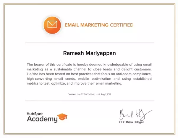 How much does google adwords certification cost quora certification path hubspot e mail marketing certified ramesh mariyappan malvernweather Gallery