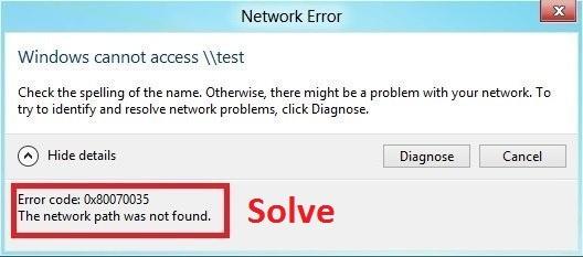 How to fix the Windows error code 0x80070035 - Quora
