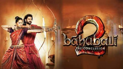 hindi dubbed movies of prabhas - baahubali2 the conclusion poster