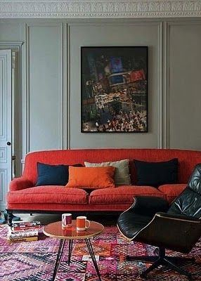 Modern Red Color Couch I Ll Definitely Give Your Home A Nice Cly Look Here Are Some Picture To Show You How Lovely These Tradition Patteed Rugs