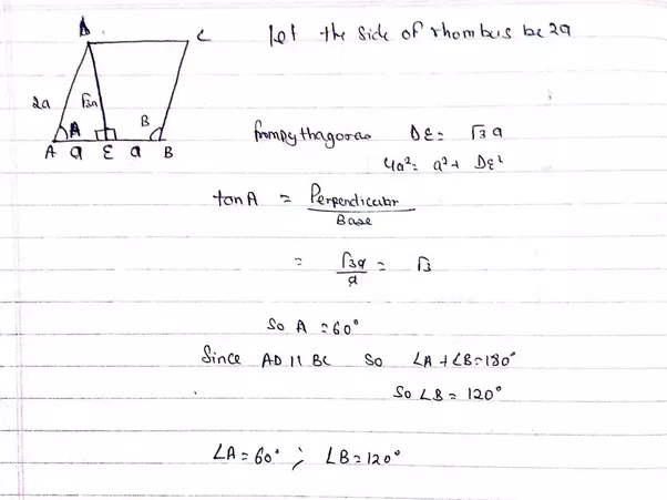 ABCD Is A Rhombus In Which The Altitude From D To Side AB Bisects - What is altitude