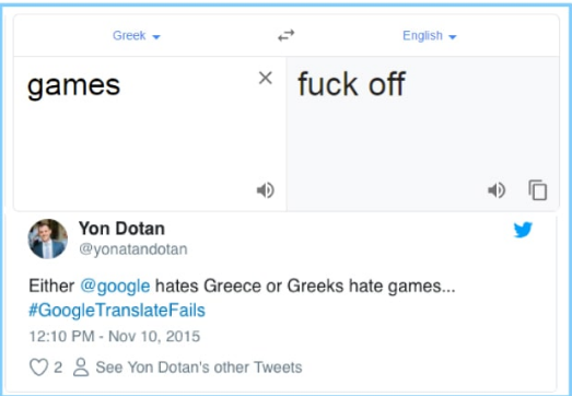 What are some of the problems with Google Translate, how can it be