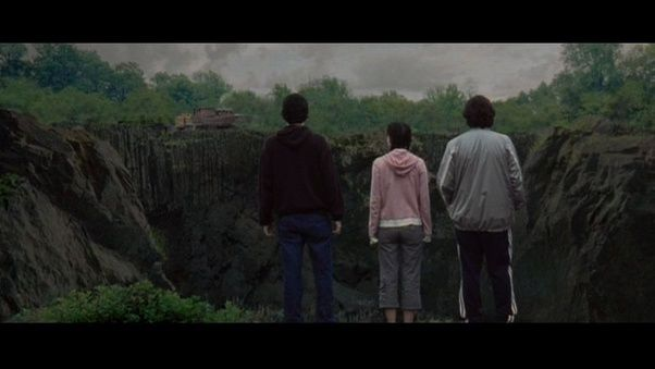 peter sarsgaard natalie portman and zach braff staring at the abyss music on soundtrack simon garfunkels only living boy in new york - Garden State Full Movie