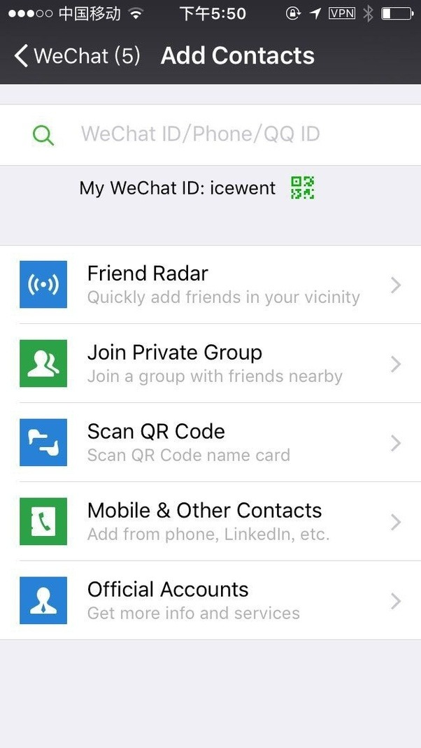 How to get the wechat id of a person quora phone number in your contacts approve wechat to use and wechat will find and suggestor you can click the button on topright and select add ccuart Choice Image