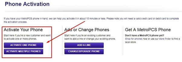How to activate my Metro PCS phone online - Quora